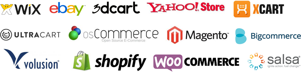 shopping cart provider logos